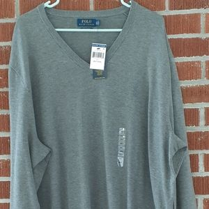 🐎New Tags 3XTall Polo Ralph Lauren V Neck sweater